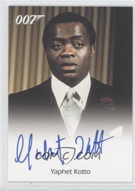 2005 Rittenhouse James Bond: Dangerous Liaisons - Full-Bleed Autographs #NoN - Yaphet Kotto Kananga (Live And Let Die)