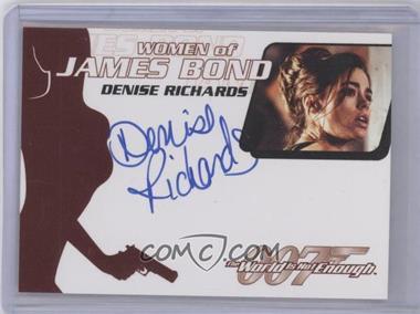 2005 Rittenhouse James Bond: Dangerous Liaisons Women of James Bond Autographs #WA30 - Denise Richards as Dr. Christmas Jones