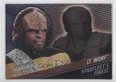 "2005 Rittenhouse The ""Quotable"" Star Trek: The Next Generation Starfleet's Finest #F7 - Lieutenant Worf /399"