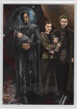 2005 Topps Star Wars: Revenge of the Sith Etched-Foil #1 - Bail Organa, Princess Leia, Beru Lars, Luke Skywalker, Owen Lars