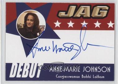 2006 TK Legacy JAG Premiere Edition Debut Autographs #D23 - Anne-Marie Johnson as Congresswoman Bobbi Latham