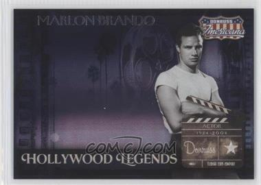 2007 Donruss Americana - Hollywood Legends #HL-28 - Marlon Brando /500