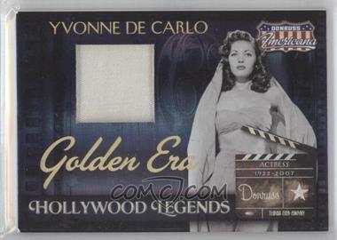 2007 Donruss Americana Hollywood Legends Golden Era Materials [Memorabilia] #HL-38 - Yvonne De Carlo /50