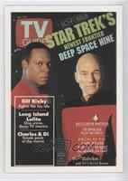 Avery Brooks as Commander Benjamin Sisko, Patrick Stewart as Captain Jean Luc P…