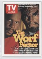 Avery Brooks as Commander Benjamin Sisko, Michael Dorn as Lt. Commander Worf