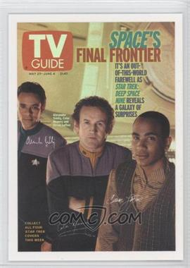 "2007 Rittenhouse The ""Quotable"" Star Trek: Deep Space Nine TV Guide Covers #TV9 - Alexander Siddig as Dr. Julian Bashir, Colm Meaney as Chief Miles O'Brien, Cirroc Lofton as Jake Sisko"