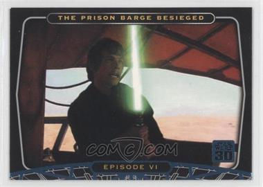 2007 Topps Star Wars 30th Anniversary - [Base] - Blue Foil #30 - The Prison Barge Besieged
