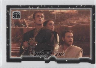 2007 Topps Star Wars 30th Anniversary - Tryptich Puzzle Pieces #2.1 - Escaping Fate