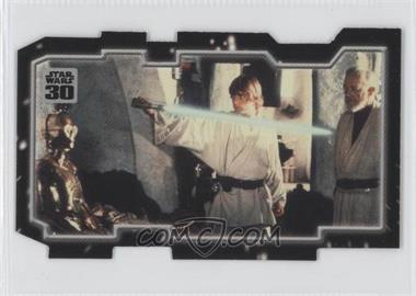 2007 Topps Star Wars 30th Anniversary - Tryptich Puzzle Pieces #6.2 - Master and Apprentice