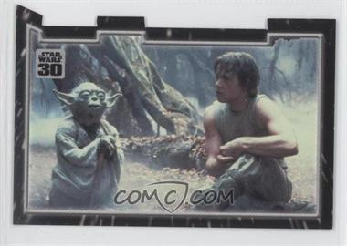 2007 Topps Star Wars 30th Anniversary - Tryptich Puzzle Pieces #6.3 - Master and Apprentice