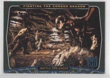 2007 Topps Star Wars 30th Anniversary Blue Foil #99 - Fighting the Condor Dragon