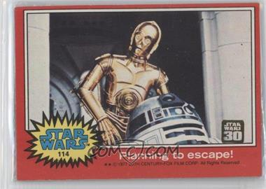 2007 Topps Star Wars 30th Anniversary Buybacks #114 - Planning to Escape!