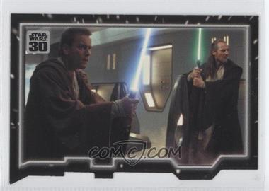 2007 Topps Star Wars 30th Anniversary Tryptich Puzzle Pieces #6.1 - Master and Apprentice