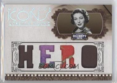 2008 Donruss Americana Celebrity Cuts - Hollywood Icons - Hero Die-Cut Quad Materials [Memorabilia] #HI-LY - Loretta Young