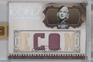 2008 Donruss Americana Celebrity Cuts - Hollywood Icons - Icon Die-Cut Quad Materials [Memorabilia] #HI-GR - Ginger Rogers