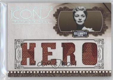 2008 Donruss Americana Celebrity Cuts Hollywood Icons Hero Die-Cut Quad Materials [Memorabilia] #HI-PN - Patricia Neal /25