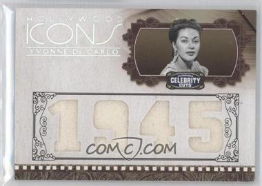 2008 Donruss Americana Celebrity Cuts Hollywood Icons Year Die-Cut Quad Materials [Memorabilia] #HI-YDC - Yvonne De Carlo /25