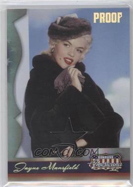2008 Donruss Americana II - [Base] - Gold Proof Stars Materials [Memorabilia] #206 - Jayne Mansfield /25