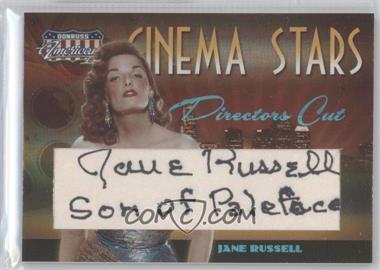 2008 Donruss Americana II - Cinema Stars - Director's Cut Cut Signatures [Autographed] #CS-38 - Jane Russell