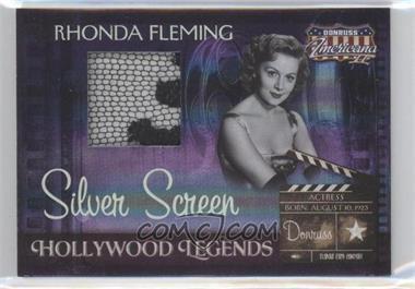 2008 Donruss Americana II - Hollywood Legends - Silver Screen Materials [Memorabilia] #HL-47 - Rhonda Fleming /100