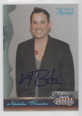 2008 Donruss Americana II - Private Signings Autographs #140 - Nicholas Brendon /400