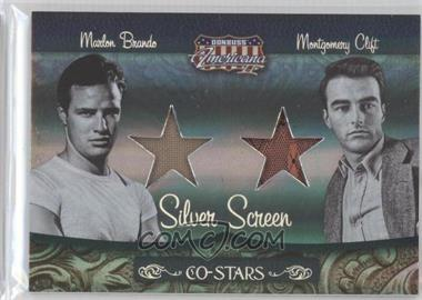 2008 Donruss Americana II Co-Stars Silver Screen Stars Materials [Memorabilia] #CSM-13 - Marlon Brando, Montgomery Clift /100