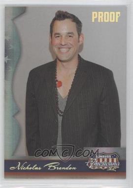 2008 Donruss Americana II Gold Proof #140 - Nicholas Brendon /100