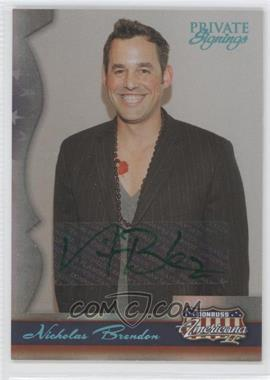 2008 Donruss Americana II Private Signings Autographs #140 - Nicholas Brendon /400