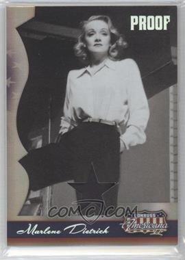 2008 Donruss Americana II Silver Proof Stars Materials [Memorabilia] #234 - Marlene Dietrich /50