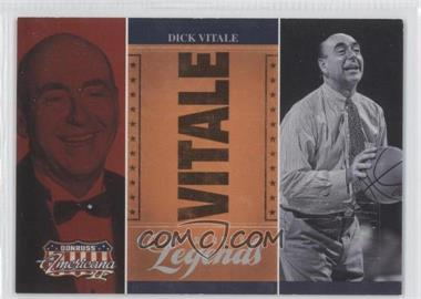 2008 Donruss Americana II Sports Legends Promo National #P-DV - Dick Vitale /25