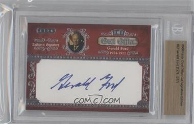 2008 Razor Cut Signature Edition Oval Office Authentic Cut Signature #N/A - [Missing] /1 [BGS AUTHENTIC]