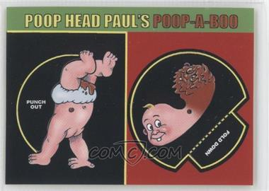 2008 Topps Garbage Pail Kids All-New Series 7 Activity Cards #3 - Poop Head Paul's Poop-a-Boo