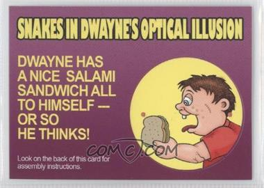 2008 Topps Garbage Pail Kids All-New Series 7 Activity Cards #9 - Snakes in Dwayne's Optical Illusion