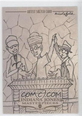 2008 Topps Indiana Jones Masterpieces - Sketch Cards #NFAS - Nicole Falk (Ark Scene) /1