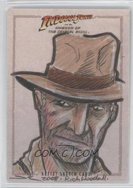 2008 Topps Indiana Jones and the Kingdom of the Crystal Skull Artist Sketch #RWIJ - Rich Woodall (Indiana Jones) /1