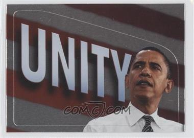 2008 Topps President Obama Collector Trading Cards Stickers Foil #12 - Unity