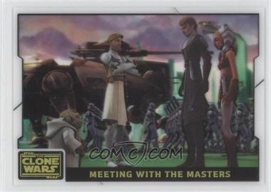 2008 Topps Star Wars: The Clone Wars - Animation Cel #10 - Meeting with the Masters