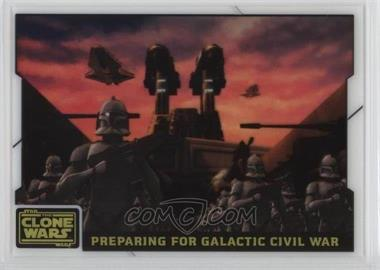 2008 Topps Star Wars: The Clone Wars - Animation Cel #9 - Preparing for Galactic Civil War