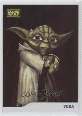 2008 Topps Star Wars: The Clone Wars - [Base] - Foil #7 - Yoda /205