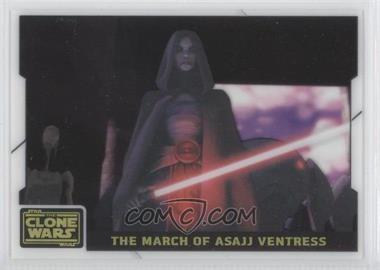 2008 Topps Star Wars: The Clone Wars Animation Cel #4 - The March of Asajj Ventress