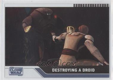 2008 Topps Star Wars: The Clone Wars Foil #28 - Destroying a Droid /205