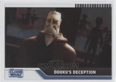 2008 Topps Star Wars: The Clone Wars Foil #47 - Dooku's Deception /205