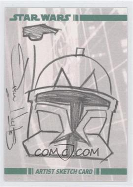 2008 Topps Star Wars: The Clone Wars Sketch Cards #N/A - Clone Trooper, Unknown Artist /1