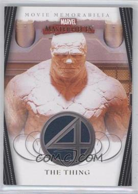 2008 Upper Deck Marvel Masterpieces Series 2 Fantastic Four Movie Memorabilia #FF 4 - The Thing
