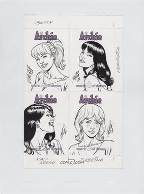 2009 Archie Comics March of Dimes Sketch Cards 4-Card Panel #N/A - Al Rio /1