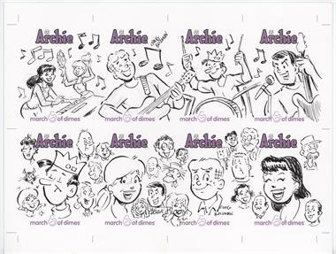 2009 Archie Comics March of Dimes Sketch Cards Promotional Uncut Sheets #N/A - Craig Boldman /1