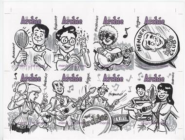 2009 Archie Comics March of Dimes Sketch Cards Promotional Uncut Sheets #N/A - Howard Bender /1