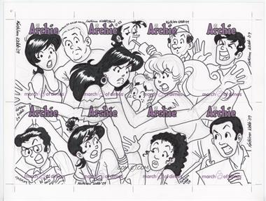 2009 Archie Comics March of Dimes Sketch Cards Promotional Uncut Sheets #N/A - Kathleen Webb /1
