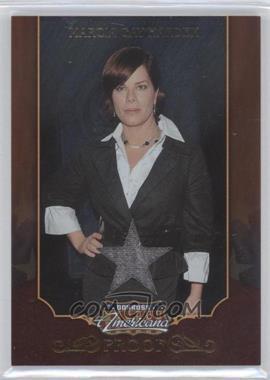 2009 Donruss Americana - [Base] - Proofs Gold Star Materials [Memorabilia] #3 - Marcia Gay Harden /25