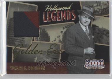 2009 Donruss Americana - Hollywood Legends - Golden Era Materials [Memorabilia] #4 - Edward G. Robinson /15